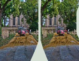 Outside the Naumburg Cathedral 3D by zour