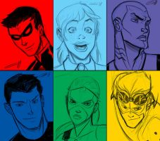 YOUNG JUSTICE by sketchmasterskillz