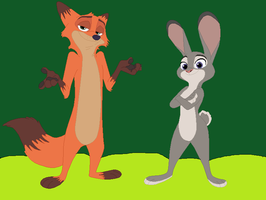 Nick and Judy in the nudes by KallyToonsStudios