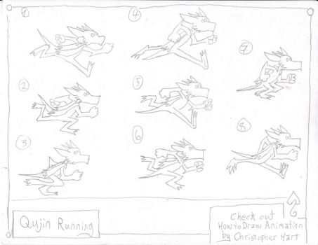 Qujin Running Animation page by Qujin