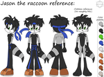PC: Jason the raccoon reference sheet by SparDanger
