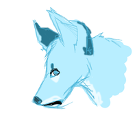 blue wolf by tinydoodles