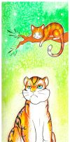 Cat and the Tiger by Rui-Shi