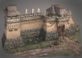 Fortress wall by ortsmor