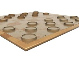 Simple Wood Checkers Set 3 by HopelessSoul13