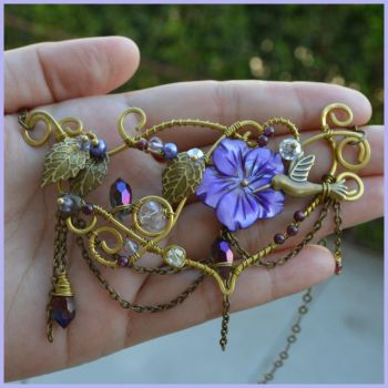Purple flower necklace.pico by AN-designs