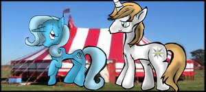 At The Carnival-Trixie and Blueblood by StarShineTheAlicorn