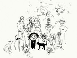 Avatar Party Sketch by DM7