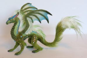 Green/blue/gold mini dragon by kimrhodes