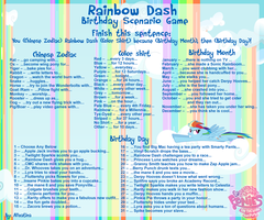 Rainbow Dash Scenario Game by Alizatina