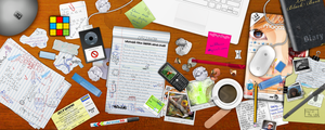 Messy Desk by web-meister