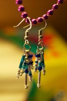 Legend of Korra Inspired Beaded Earrings by half-past-ze-freckle