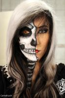 Half Skull Girl by CarinaPusch