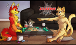 Game night! by Amathaze