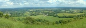 Ditchling Beacon panorama by rudeturk