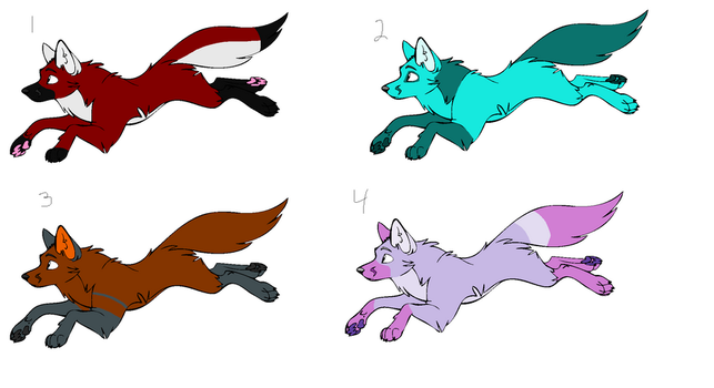 Cheap Fox Adopts - CLOSED by WolveFalcoAdoptables