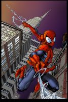 Spiderman Late For Work by oktarb