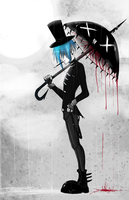 black umbrella by Corpse-boy