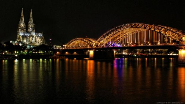 Cologne Cathedral at night by pingallery