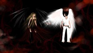 Demon and Angel by TheliaZein