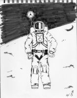 Space Man Inktober 13 by MJStarchilde