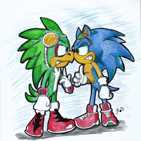 Jet Vs Sonic by RaeLogan