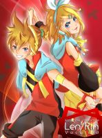 New Year is Arrived!! Vocaloid - Kagamine Len/Rin by ZeonXeria