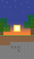 Minecraft Sunset by Tainted-Fire