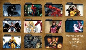 Marvel Comics Folder Pack 3 by 3o1415