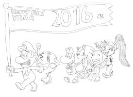 Video Game Heroes - Happy New Year by MrNintMan