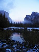 Snowy Autumn in Yosemite X by Synaptica