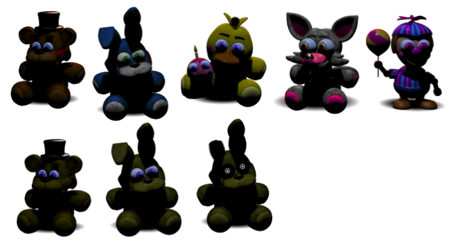 Extra fnaf plushies pack dahooplerzman 156 14 fnaf withered