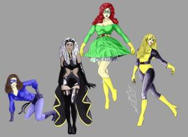 the ladies of x-men by rolandflagg