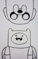 SuperCon Poster: Finn and Jake by starbuxx