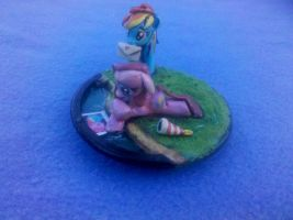 MLP custom diorama: Rainbow Dash and sad Pinkie by vulpinedesigns