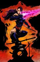 Psylocke-Colored by likwidlead