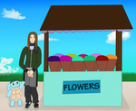 PTS: Flower Stand - Prompt by kagetora4ever