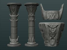 Barbarian column highpoly by Redecorator