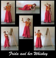 Frida and her Whiskey pack by LongStock