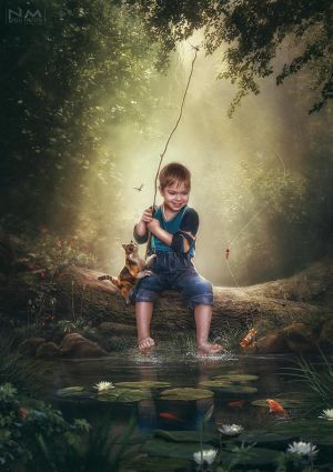 small fisherman by Makusheva