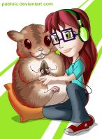 Mi hamster gigante by Pabloic