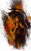 Ifrit: Lord fo Fire by troubadour93