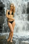Kahli - black bikini at waterfall 2 by wildplaces