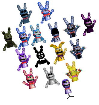 Bonnie Puppets by TheGoldenGamer90010