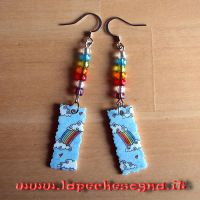 rainbow earrings by lapechesogna