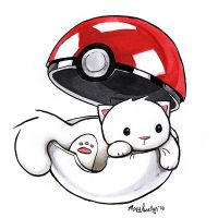 Pokeball Kitty by MaryLuellyn