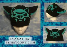 Bad Cat Kitty Hat Fleece Anime by HatcoreHats
