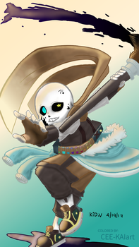 Ink Sans | Digital Art Request by CEE-KAIart