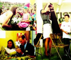 William and Kate with kids by grapecx