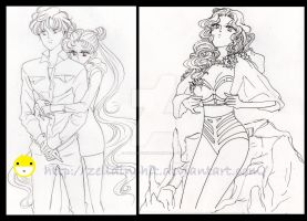 sketches of new drawings - sailor moon by zelldinchit